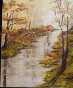 Picturi de toamna Ploaie de toamna luminoasa