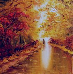 Picturi de toamna Silueta uda