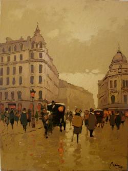 Picturi de toamna Pe Calea Victoriei, intre hotel Louvre si Casa Capsa