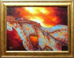 Picturi de toamna Frunza parjolita