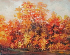Picturi de toamna Rosu de toamna