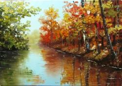Picturi de toamna Toamna pe lac 2