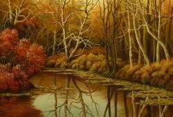 Picturi de toamna Tufisul rosu