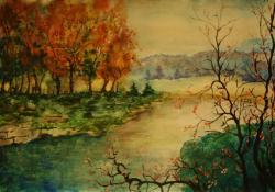 Picturi de toamna Toamna pe malul raului