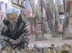 Picturi de toamna Figuri in peisajul urban