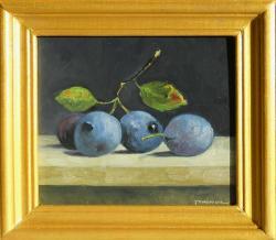 Picturi de toamna natura statica cu prune 8