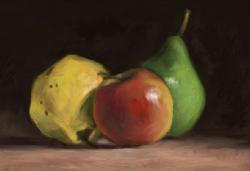 Picturi de toamna trei fructe de toamna
