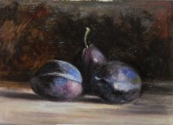 Picturi de toamna trei prune albastre