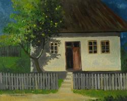 Picturi de toamna un gutui in fata casei