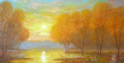 Picturi de toamna APUS DE SOARE 1.