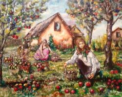 Picturi de toamna Cules de mere