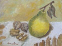 Picturi de toamna Nuci si gutuie