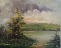 Picturi de toamna Inceput de furtuna la lac