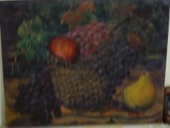 Picturi de toamna Cos cu fructe