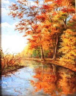 Picturi de toamna Lacul in culori de toamna