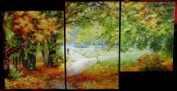 Picturi de toamna Plimbare in parc