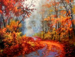 Picturi de toamna red road
