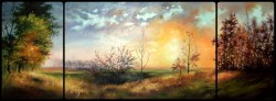 Picturi de toamna Sunset triptych