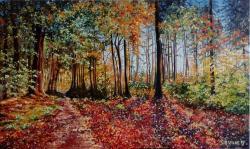 Picturi cu peisaje Imbratisari de toamna