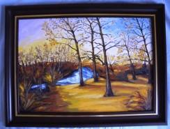 Picturi de toamna Apus de soare in peri maramures