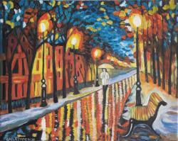 Picturi de toamna Plimbare in ploaie