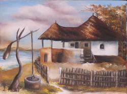 Picturi de toamna Casa cu cerdac
