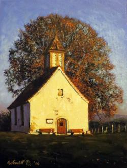 Picturi de toamna Capela in lumina serii