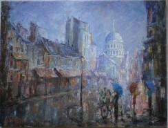 Picturi de toamna Ploaie in paris