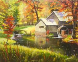 Picturi de toamna Peisaj de toamna Moara
