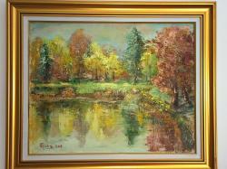 Picturi de toamna Toamna pe lac.