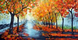 Picturi de toamna Autumn in the Park