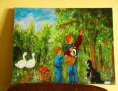 Picturi de toamna Culesul merelor