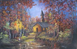 Picturi de toamna Biserica