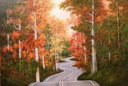 Picturi de toamna drumul serpuit