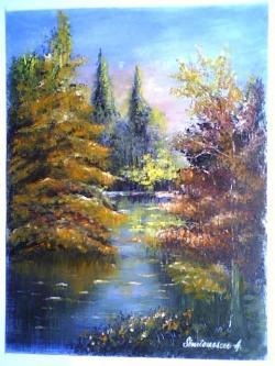 Picturi de vara lac in padure