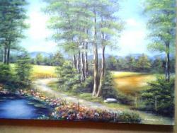 Picturi de vara vara la marginea padurii