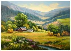 Picturi cu peisaje VARA DE BASM