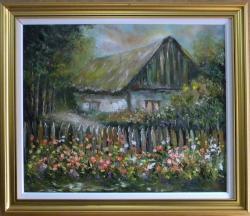 Picturi de vara CASA CU FLORI