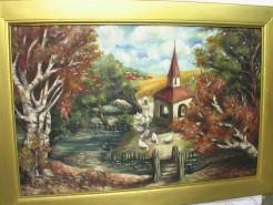 Picturi de vara Margine de sat