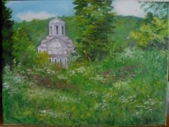 Picturi de vara Biserica din sat