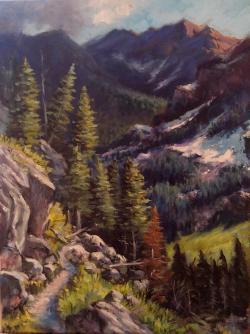 Picturi de vara Pe carari de munte1