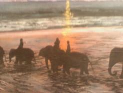 Picturi de vara Apus hindus