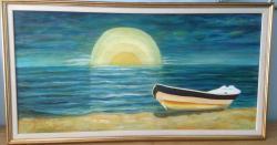 Picturi de vara Barca pe mal