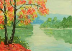 Picturi de vara in mijlocul apelor