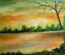 Picturi de vara Lumina apusului