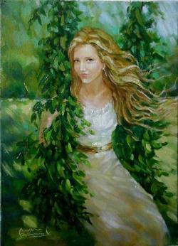 Picturi de vara Tânăra
