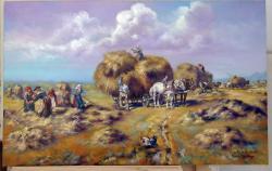 Picturi de vara tarani la camp