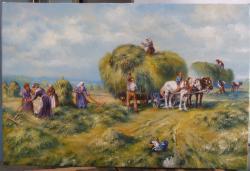 Picturi de vara tarani la camp 2