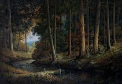 Picturi de vara Peisaj de padura