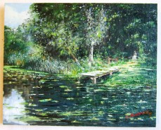 Picturi de vara Vara pe lac